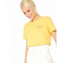 Amaro Feminino T-Shirt Truth Is Like Poetry, Amarelo