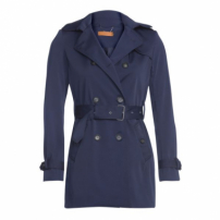 Amaro Feminino Trench Coat London Breeze, Azul