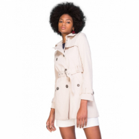 Amaro Feminino Trench Coat London Breeze, Bege