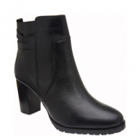 Ankle Boot Couro Black