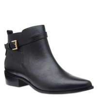 Ankle Boot Couro Fivela