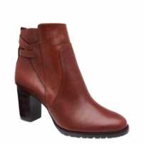 Ankle Boot Couro Natural