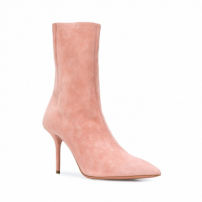 Aquazzura Ankle Boot 'saint Honoré' De Camurça - Rosa