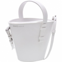 Basket Bag Mickey Leather White | Schutz