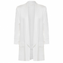Blazer Over Manga Franzida Canal - Off White