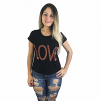 Blusa Cabide Fashion Love Preto