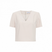 Blusa Cropped Cambre - Bege
