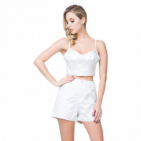 Blusa Cropped Lança Perfume Collection Off White
