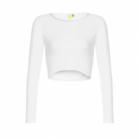 Blusa Cropped Manga Longa Farm - Off White