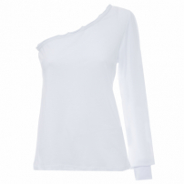 Blusa Feminina Manga Longa Shoulder - Off White