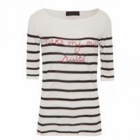 Blusa Frase Tricot - Off White
