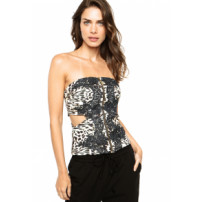 Blusa Lança Perfume Animal Multicolorida