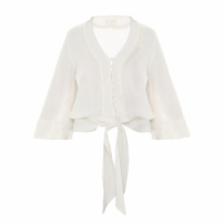 Blusa Linen Off White Julietha