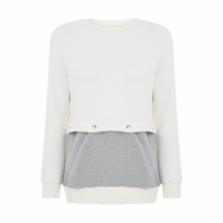Blusa Moletom Button - Off White