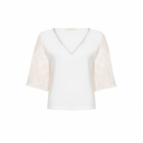 Blusa Tela Missinclof - Off White