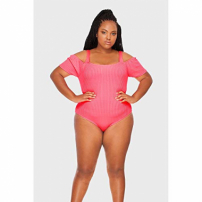 Body Ciganinha Plus Size Rosa-52/54