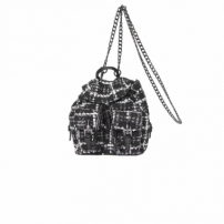 Bolsa Backpack Julia Tweed - Preto