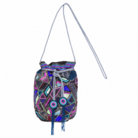 Bolsa Bucket Bordada Colors - Azul
