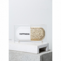 Bolsa Clutch Happiness Pill  Dourada U