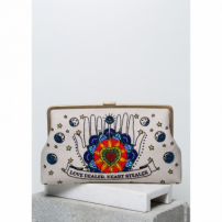 Bolsa Clutch Love Dealer Heart Stealer  Azul U