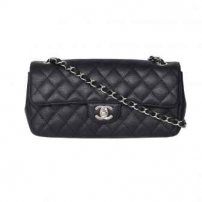 Bolsa East West Flap Caviar