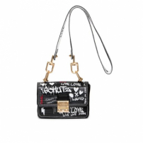Bolsa Mini Crossbody Live Love Graphite Schutz - Preto