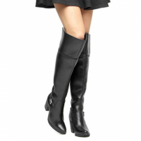 Bota Couro Over The Knee Shoestock Fivela Feminina-Feminino