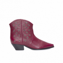Bota Feminina Burned Leather Rubi Wine - Vinho
