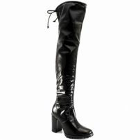 Bota Over The Knee Offline Verniz Tratorada  Feminina-Feminino