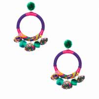 Brinco Hera Earrings - Roxo
