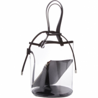 Bucket Bag Vinil Crystal Black | Schutz