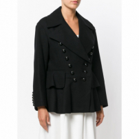Burberry Double Breasted Jacket - Preto