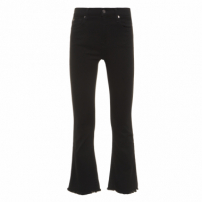 Calça Cropped Boot With Raw - Preto