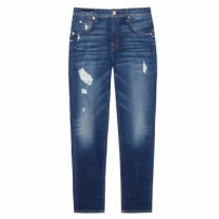 Calça Jeans The Relaxed Skinny With Destroy