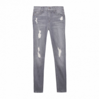 Calças Jeans The Ankle Skinny Grey Skies