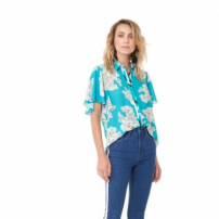 Camisa Blue Botanical - 36