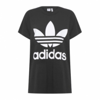 Camiseta Big Trefoil Adidas Originals - Preto