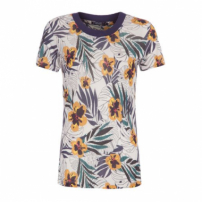 Camiseta Est Floral Tropical Canal - Off White