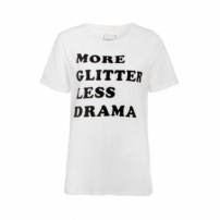 Camiseta Glitter Canal - Off White