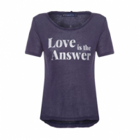 Camiseta Love Is The Answer Vi And Co - Azul