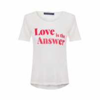 Camiseta Love Is The Answer Vi And Co - Branco