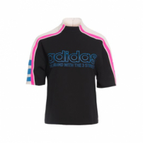 Camiseta Og Cropped Adidas Originals - Preto