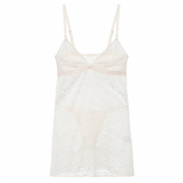Camisola Baby Doll Bouquet La Rouge Belle - Off-White