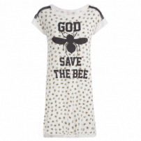 Camisola Malha Bee - Off White