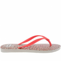 Chinelo Havaianas Slim Animals Coral E Branca