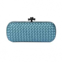 Clutch Elongated Knot Acqua