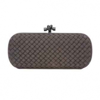 Clutch Elongated Knot Cinza