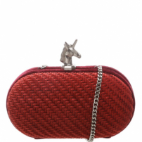 Clutch Velvet Unicorn Rubi Wine | Schutz