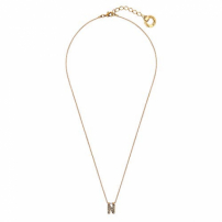 Colar Small Word N - Ouro Vintage