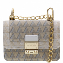 Crossbody Mini Jacquard Triangle White | Schutz